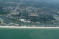 South Indian Rocks Beach Florida aerial views of real estate waterfront homes beachfront condos  and townhomes with deeded boat slips