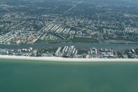 Central Indian Shores Florida.  Aerial pictures of real estate available on the mls.  Beach Front homes, condos, apartment buildings and commercial real estate listed for sale.  Intracoastal townhomes and properties with deeded boat slips.