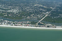 South Indian Shores Florida.  Aerial pictures of all waterfront real estate for sale along the gulf of mexico in the Tampa Bay Florida area